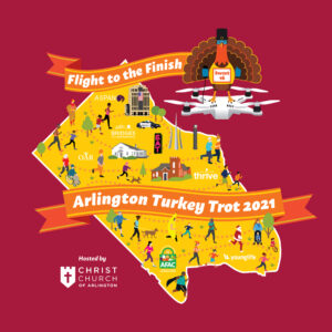 Arlington Turkey Trot 2021 T Shirt Design