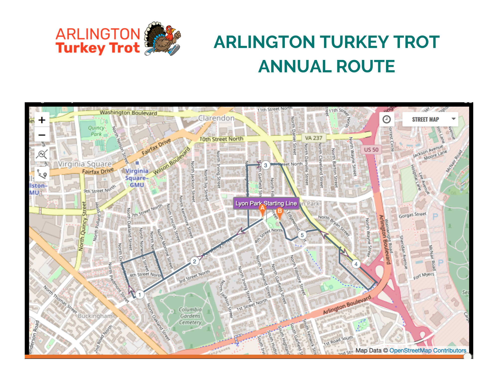 arlington-va-turkey-trot-annual-course-map