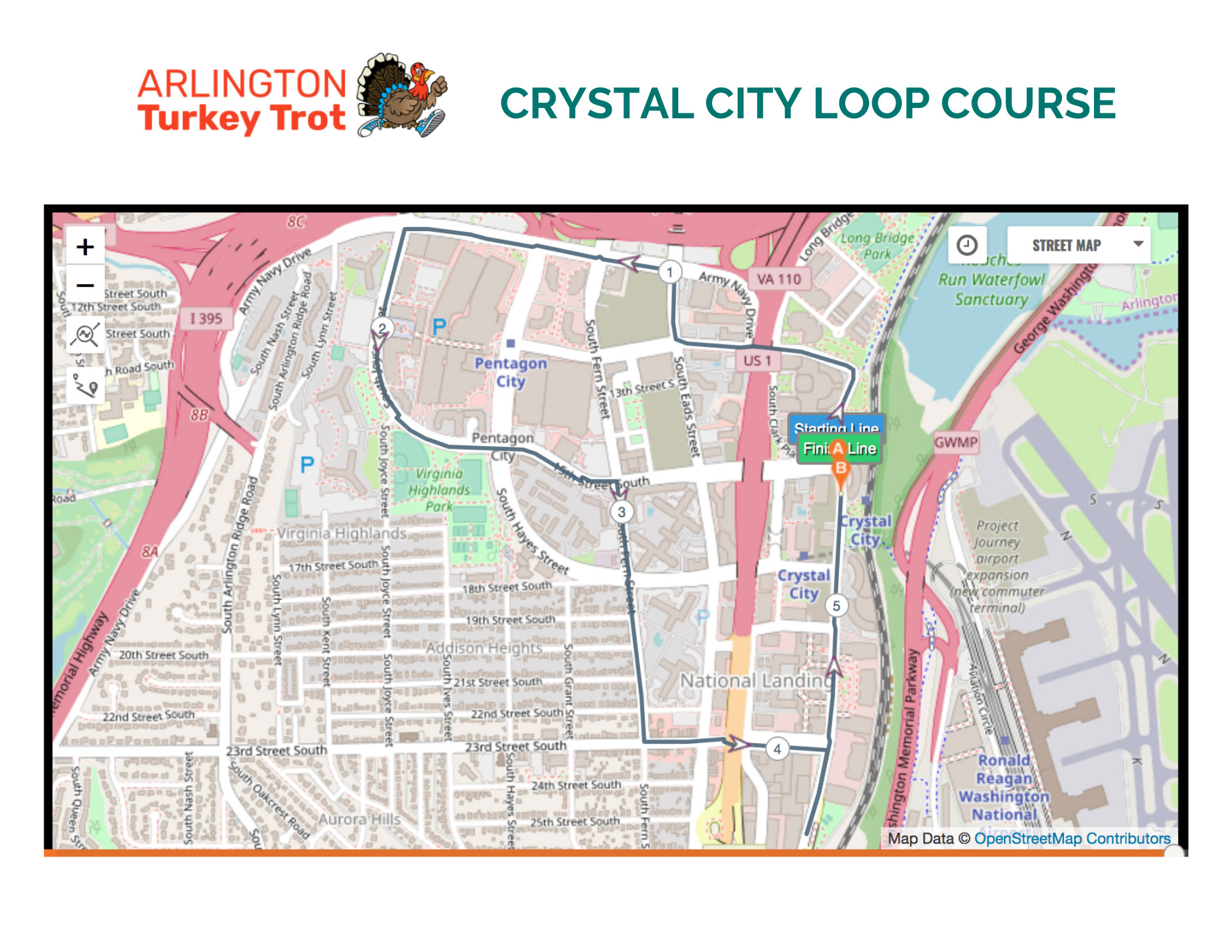 arlington-va-turkey-trot-crystal-city-course-map