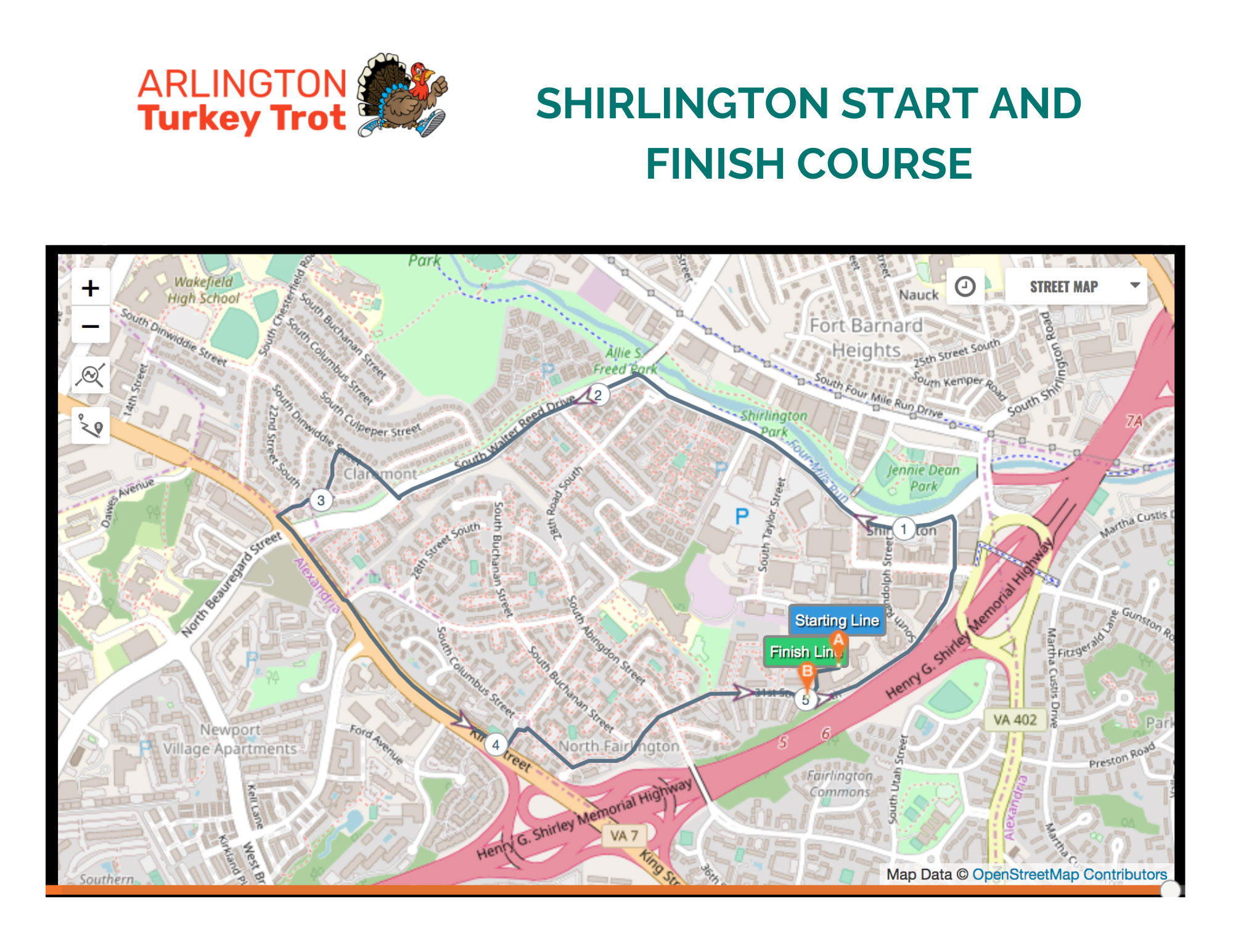arlington-va-turkey-trot-shirlington-course-map