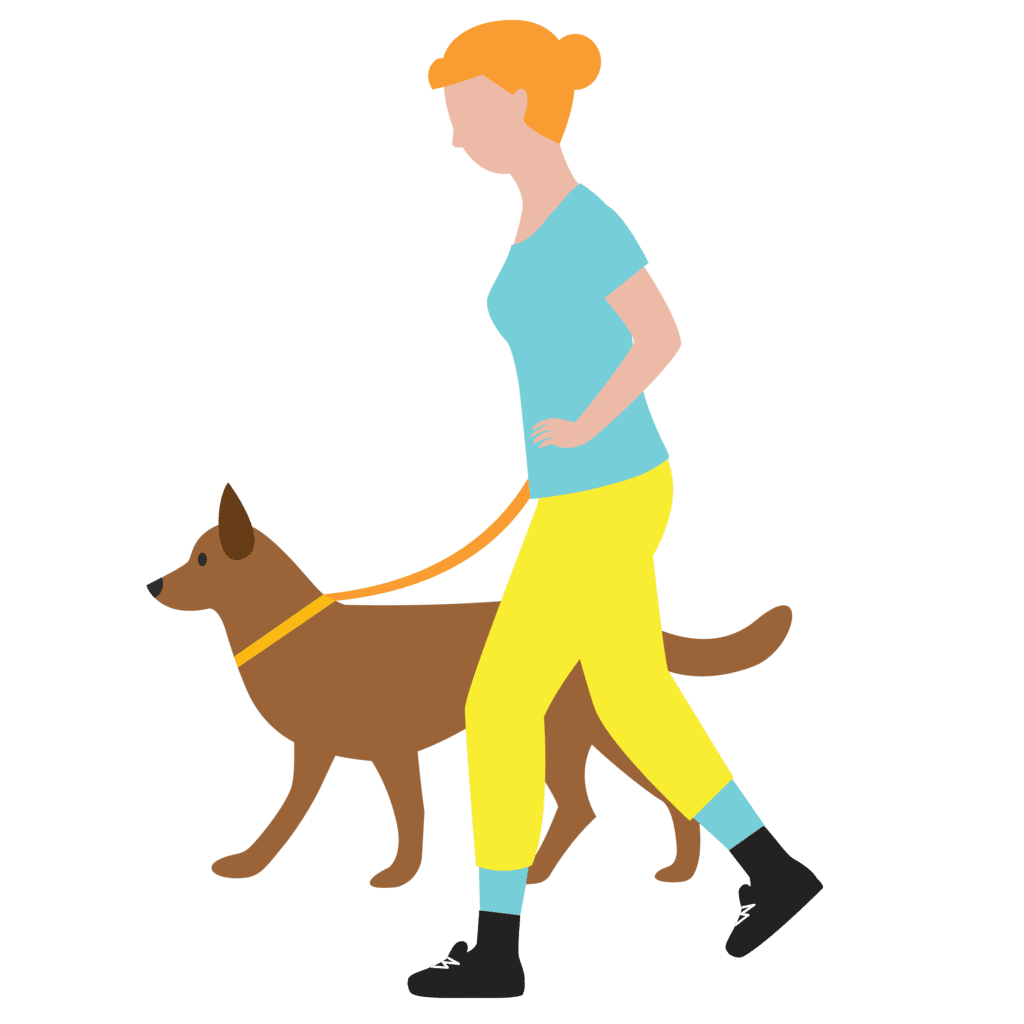 graphic-of-turkey-trot-character-dog-walker